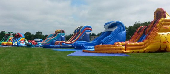 water slide feature Home